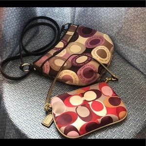 Bundle Small crossbody bag and wristlet